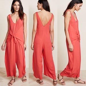 MARA HOFFMAN Pink Crepe Wrap Style Muriel Jumpsuit